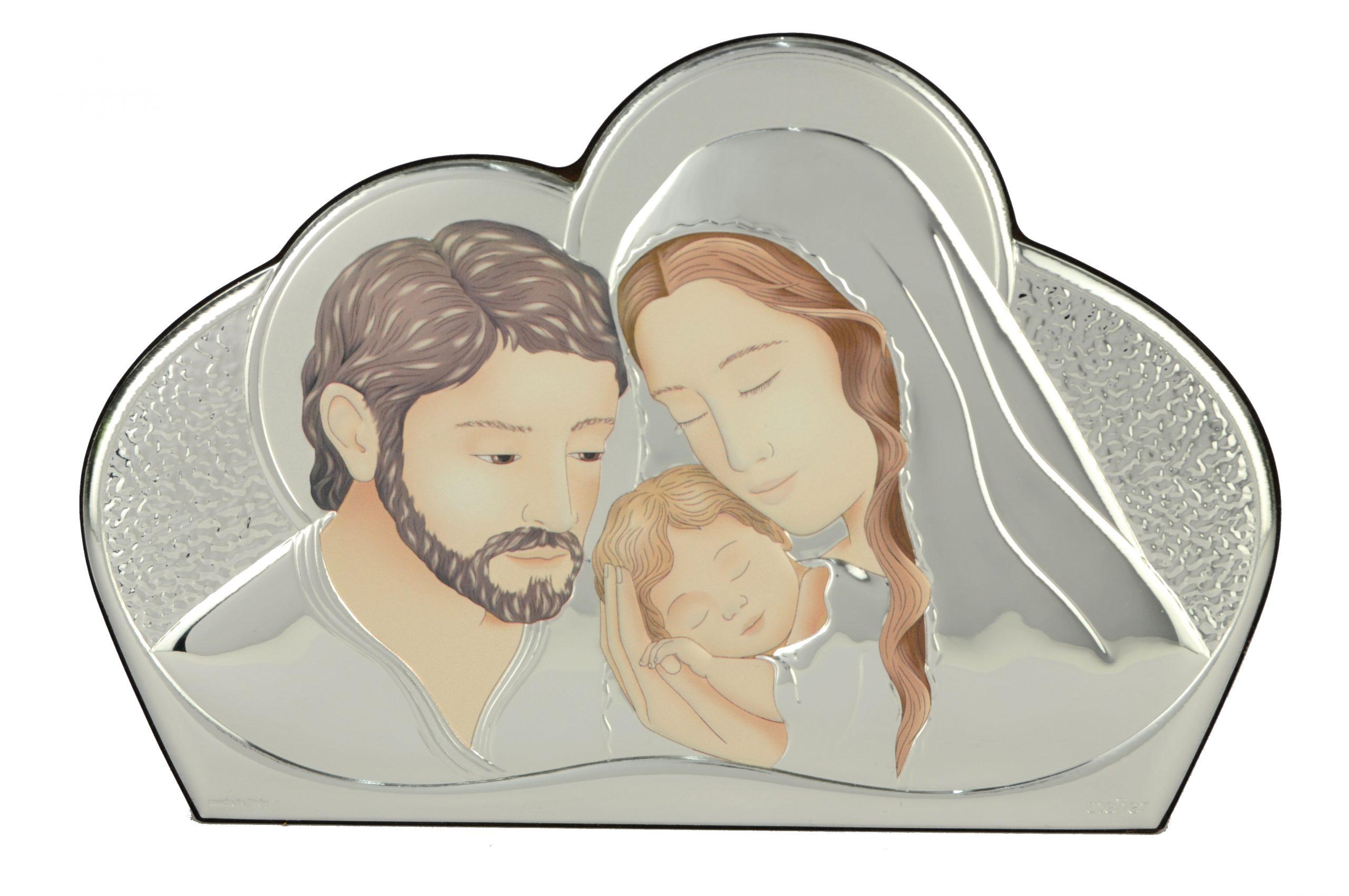 Icoana argintata Sfanta Familie