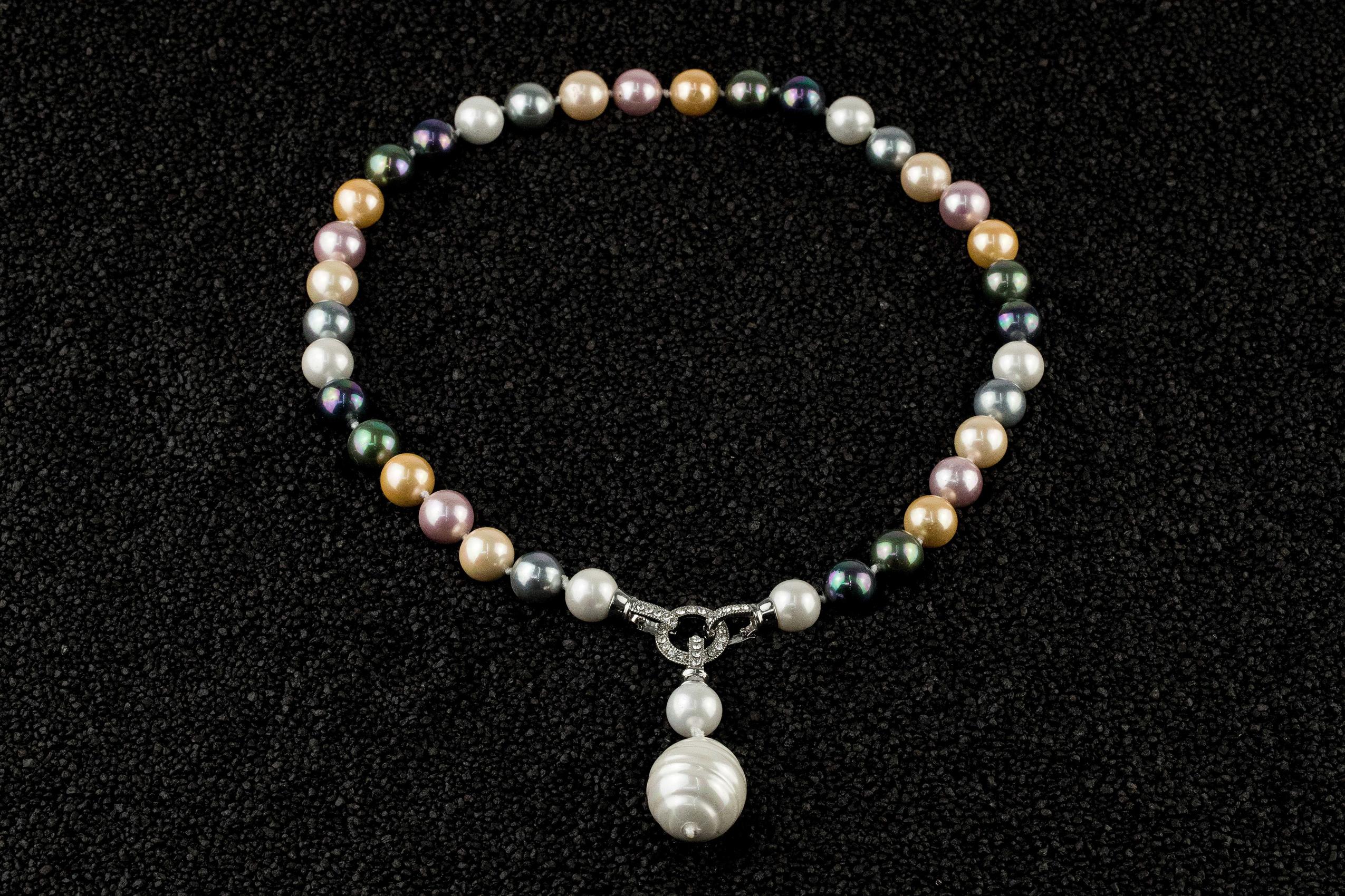 Colier perle Mallorca Rainbow Tassel