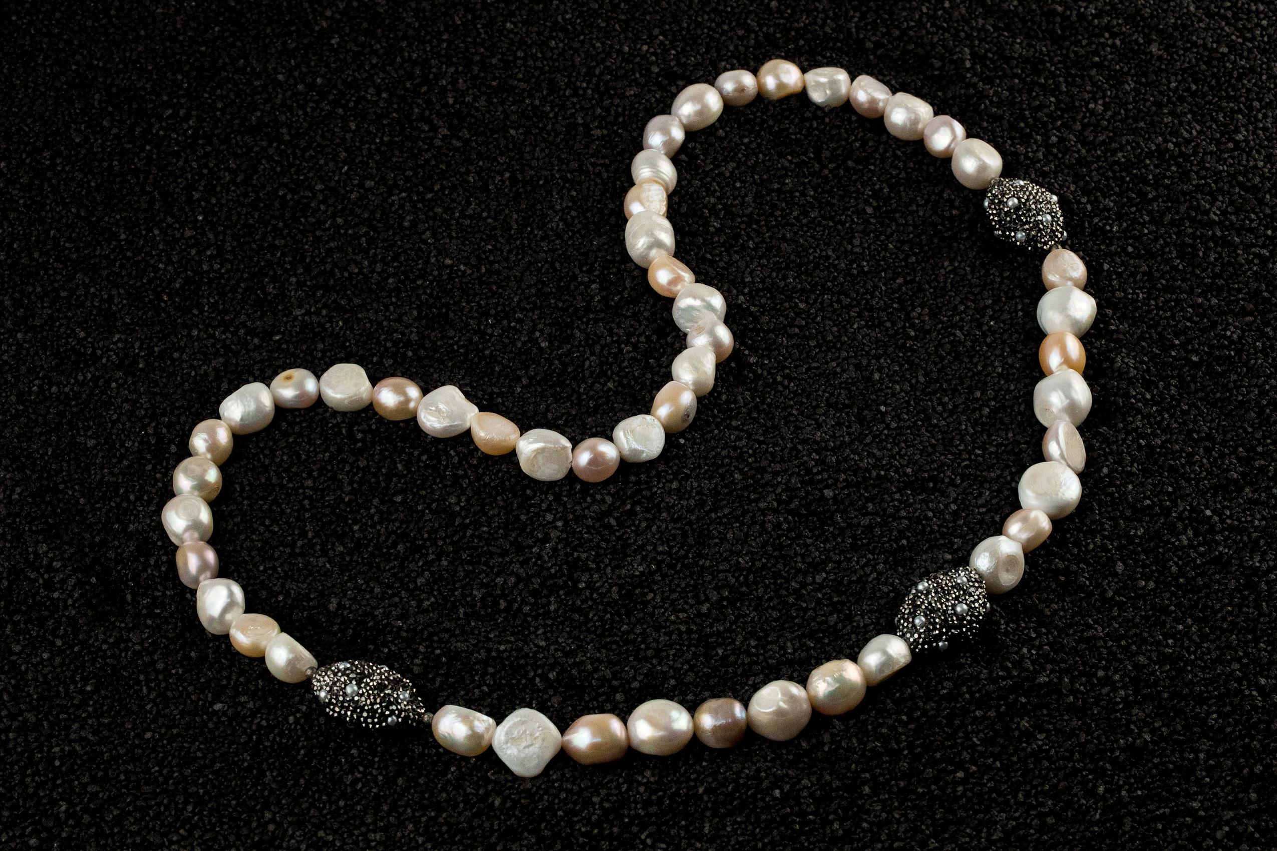 Colier lung perle naturale White Peach